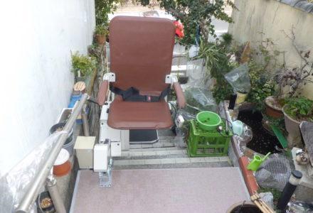 階段昇降機施工事例84「昇助くんSEO9-R」
