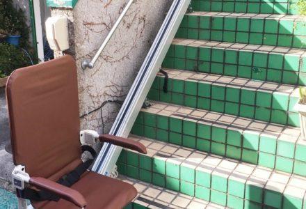 階段昇降機 京都府 設置事例115 「SEO9-R 折りたたみタイプ」