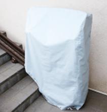 いす全体を覆うカバー付き