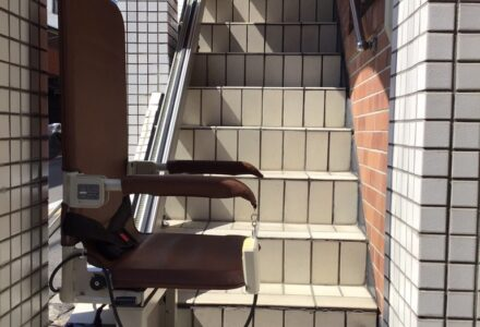 階段昇降機 レンタル 京都府 施工事例153「昇助くんSEO9」
