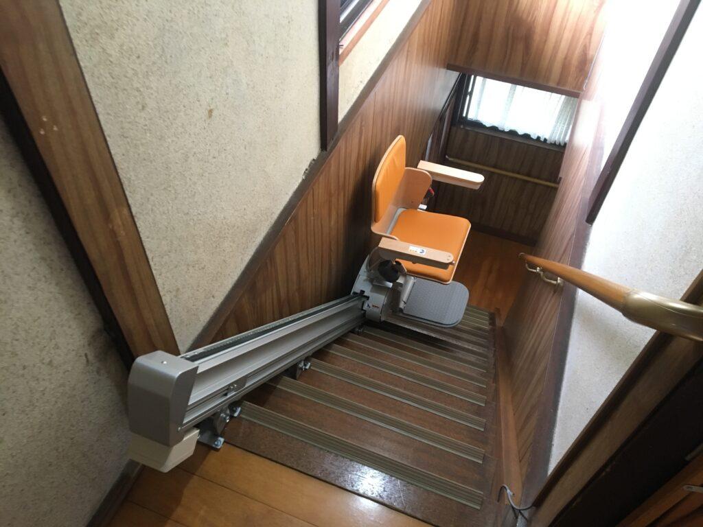 階段昇降機設置例