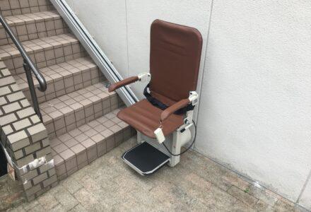 階段昇降機 レンタル 大阪府 施工事例165「昇助くんSEO9」